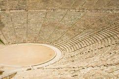 Ancient theater in Epidaurus, Greece Stock Images