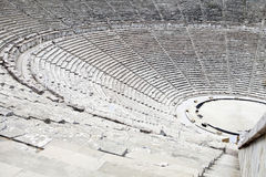 Ancient theater in Epidaurus, Greece. The theater is the largest surviving theater in Greece and marveled for its exceptional acoustics Royalty Free Stock Photography
