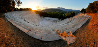 Ancient theater Epidaurus Royalty Free Stock Images