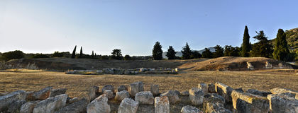 Ancient theater of Eretria Greece Stock Photo