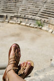 Ancient theater. Royalty Free Stock Photo