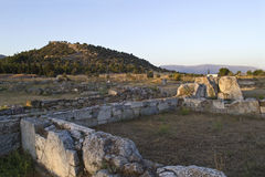 The ancient theater of Eretria Euboea Greece royalty free stock images