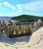 Ancient theater of Herodus Atticus Stock Images