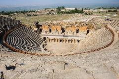 Ancient theater in Hierapolis Stock Images