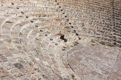 Ancient theater in Kourion, Cyprus Royalty Free Stock Images