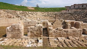 Ancient Theater of Larissa Royalty Free Stock Photos