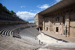 Ancient Theater of Orange in Provence Royalty Free Stock Photos