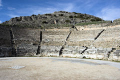 The ancient theater of Philippi Stock Images