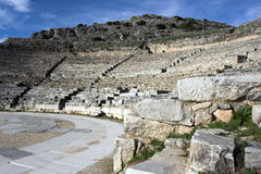 The ancient theater of Philippi stock photo