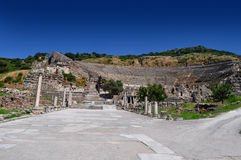 Ancient Theater Remains in Ephesus, Turkey Royalty Free Stock Photos