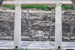 Ancient theater ruins of Aphrodisias Ancient City, Aydin / Turkey royalty free stock images