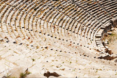 Ancient theater ruins in Myra, Turkey. Stock Photos