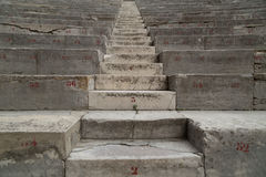 Ancient Theater Stairs and Row of Seats. Orange, France Royalty Free Stock Photo