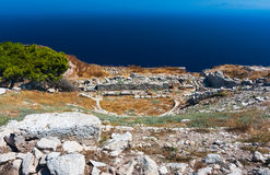 Ancient theater in Thira, Santorini Stock Photography