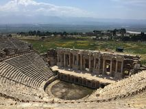 This image was taken from the top of Ephesus Theater in Turkey stock image
