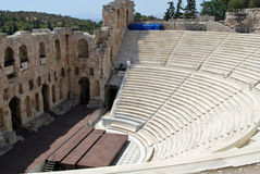 Ancient theatre. One of the greek ancient theatre Stock Image