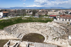Ancient Theatre, aerial view, Larissa, Greece Stock Images