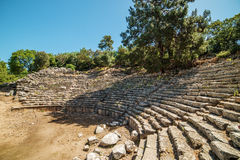 Ancient theatre in Antique city of Phaselis, Antalya Destrict, Turkey Stock Photos