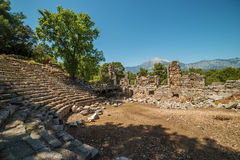 Ancient theatre in Antique city of Phaselis, Antalya Destrict, Turkey Stock Image