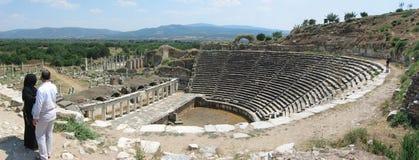 Ancient theatre in Aphrodisias royalty free stock photo
