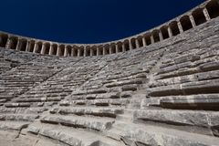 Ancient theatre of Aspendos in Turkey Stock Photos