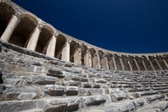 Ancient theatre of Aspendos in Turkey Royalty Free Stock Images