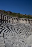 Ancient theatre of Aspendos in Turkey Stock Photo