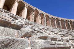 Ancient theatre of Aspendos in Turkey Stock Image