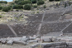 THE ANCIENT THEATRE OF ASSOS, TURKEY. Royalty Free Stock Photos