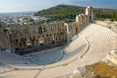 Ancient theatre in Athens Stock Images
