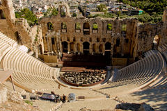Ancient theatre in Athens Royalty Free Stock Photography