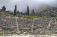 The ancient theatre at Delphi Stock Photography