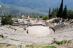 Ancient theatre in delphi greece Royalty Free Stock Images