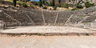 Ancient Theatre of Delphi Stock Image