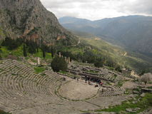 The ancient theatre at Delphi royalty free stock photos