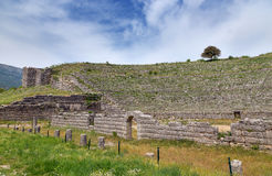 Ancient theatre of Dodoni, Epirus, Greece stock images