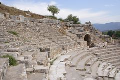 Ancient theatre, Ephesus, Turkey Stock Photo