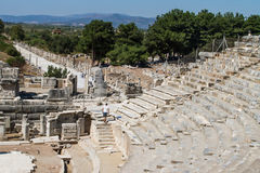Ancient Theatre of Ephesus Stock Image