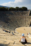 Ancient Theatre, Epidavros Stock Images