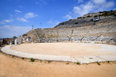 Ancient theatre at Filipi, Greece Stock Photo