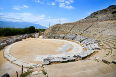 Ancient theatre at Filipi, Greece Stock Images