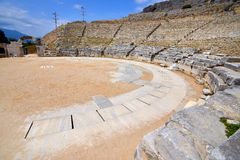 Ancient theatre at Filipi, Greece Royalty Free Stock Image