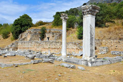Ancient theatre at Filipi, Greece Stock Photo