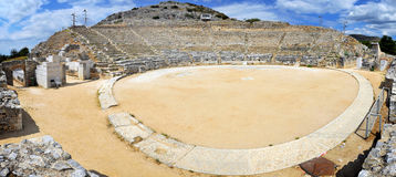 Ancient theatre at Filipi Stock Photography