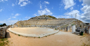Ancient theatre at Filipi Royalty Free Stock Image