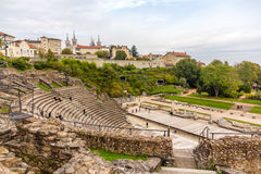 Ancient Theatre of Fourviere in Lyon Stock Image