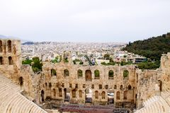 Ancient theatre of Herodes Atticus i Royalty Free Stock Photo