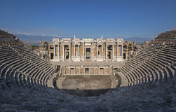 Ancient theatre in Hierapolis, Pamukkale Royalty Free Stock Photo