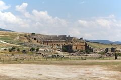 Ancient theatre in Hierapolis, Turkey royalty free stock images