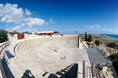 Ancient theatre in Kourion Stock Images